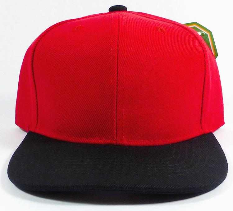 Kids Jr Snapback Blank Hats Wholesale Two Tone Red