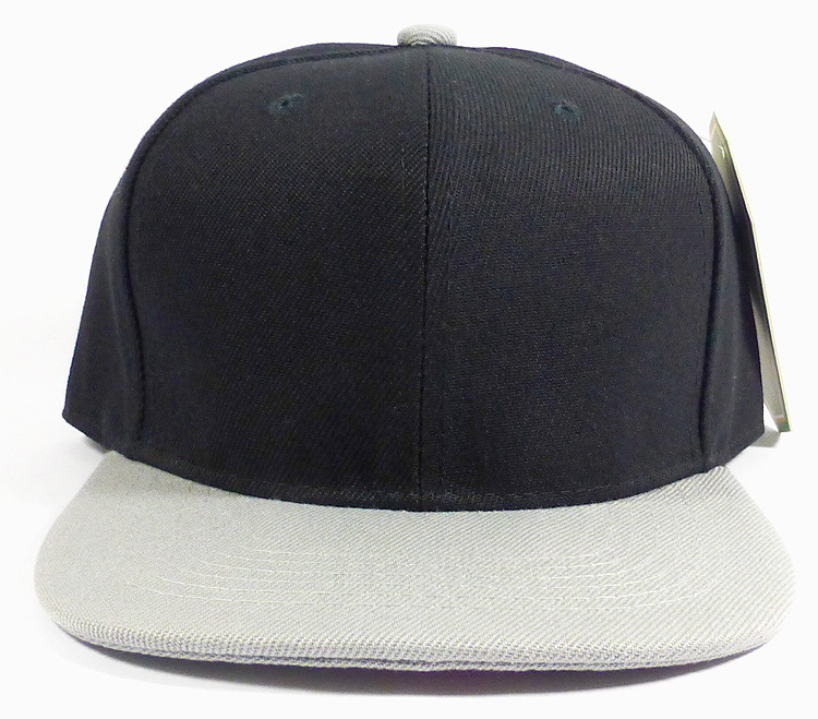 503e3812b566b Home   Youth Hats   Kids   KIDS Jr. Blank Snap back Hats Wholesale - Two  Tone - Black