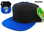 Blank Kids Jr. Snapbacks Hat Wholesale - Black Blue