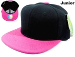 KIDS Blank Jr. Snapbacks Hat Wholesale - Black Hot Pink