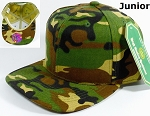KIDS Blank Jr. Snapback Hats Wholesale - Solid Camo