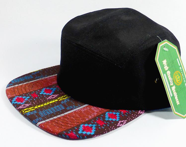 Wholesale Blank 5-Panel Aztec Camp Hats Caps - Brown Diamond Pattern ... 4b1e457f910d