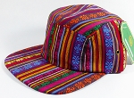 Wholesale Blank 5-Panel Aztec Camp Hats Caps - Vertical Multicolor Symbols