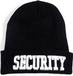Wholesale Embroidery Winter Long Beanie Hats - SECURITY
