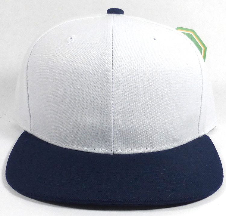 Whole Blank Snapback Hats Caps White Navy. L O G A Plain Flat Bill ... 8adb66b8c7f