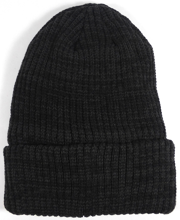 Wholesale Winter Knit Long Cuff Beanie Hats - Mixed Black b634d75cc91