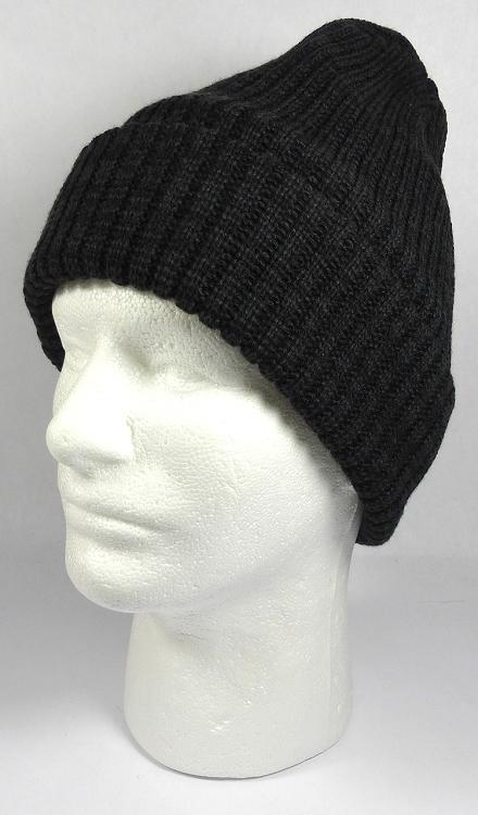 Wholesale Winter Knit Long Cuff Beanie Hats - Mixed Black a29ebae710e