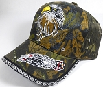 Native Pride Baseball Caps Wholesale - Proud Eagle - Autumn Camo