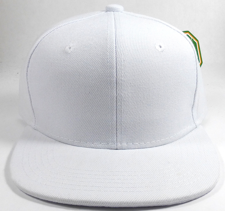 KIDS Junior Wholesale Blank Snapback Hats - Solid White 7b67bc08d11