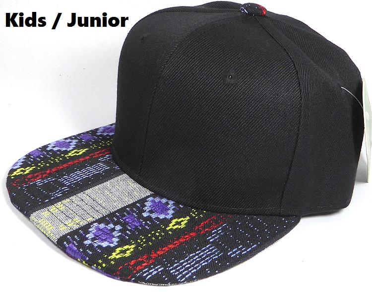 KIDS Jr. Plain Snap back Hats Wholesale - Aztec Blue Diamond ... 3da9e263257