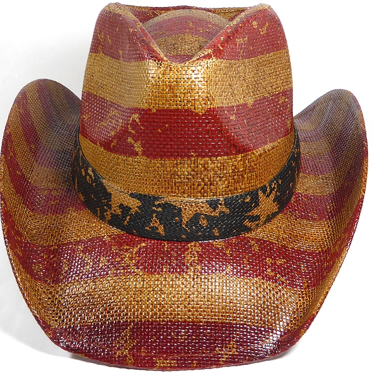 1e6e2d67a8 Cowboy Hat Wholesale - American Red and White Stripes - Vintage Brown