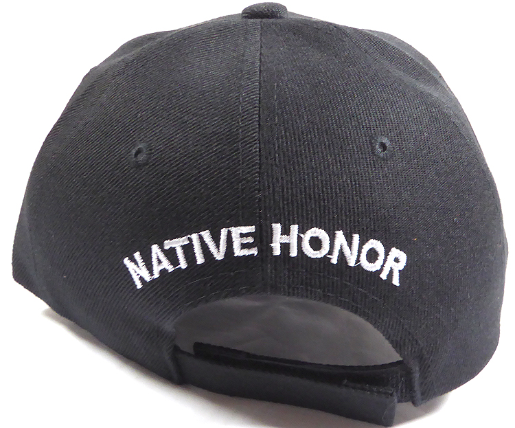 0b65a02e787 Wholesale Native Pride Baseball Cap - Chieftain Honor - Black