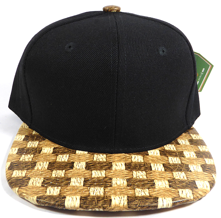 19fb1cad0c26a ... Wholesale Blank Snapback Cap - Cork Woodbrim - Hay Strawmesh. Cork  Snapback - Kids