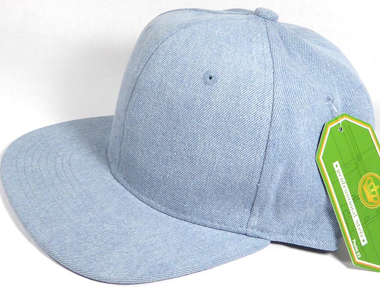 Wholesale Blank Snapback Cap - Denim Light Jean - Solid (4pcs left) 494806be444
