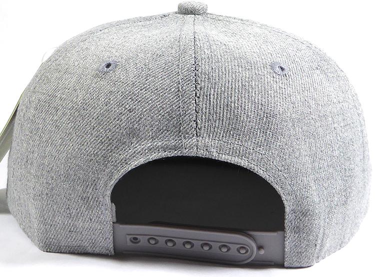 Kids Junior Bulk Blank Snapback Cap Denim Light Grey Indigo Solid