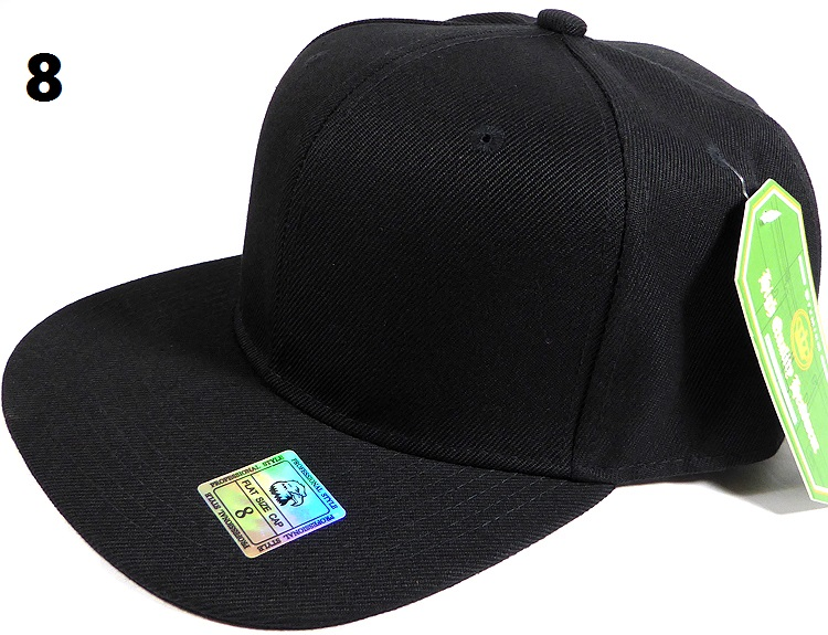 91b26c7a3ea Fitted Size Caps - Wholesale Plain Hat - 8 - Black
