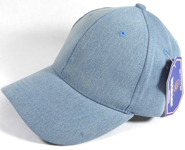 Wholesale Denim Baseball Caps Blank Jean Dad Hats in Bulk 998ef8e2ab2