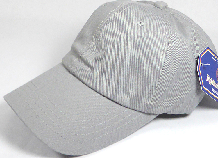 cd31a9740aa Washed 100% Cotton Plain Baseball Cap - Gold Metal Buckle - Light ...