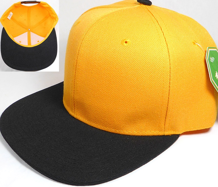7a937849125 Blank Snapback Hats Caps Wholesale - Golden Yellow