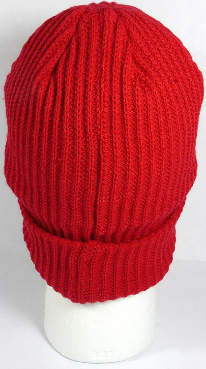 c8959e1ea76 Wholesale Winter Knit Long Cuff Beanie Hats - Solid Red