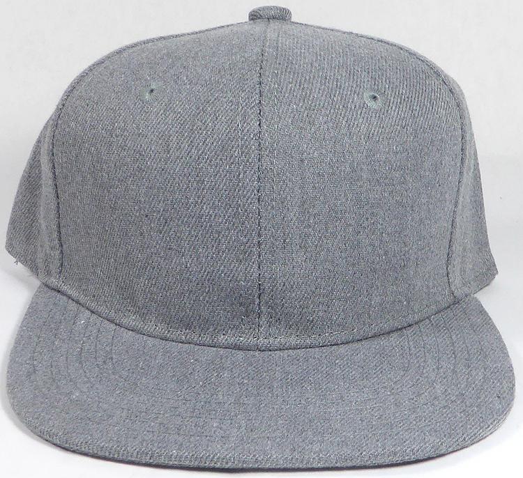 KIDS JUNIOR Bulk Blank Snapback Cap - Denim Heather Grey - Solid 801b0889140