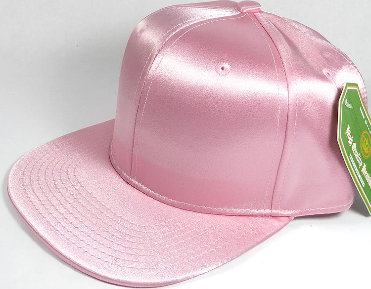 14868a545fd79 Crown Hat Original - Wholesale Faux Smooth Silk Blank Solid Snapback Caps - Light  Pink. Silk Blank Snapback