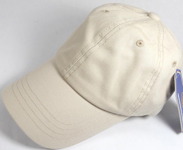 c955d2ee Washed 100% Cotton Plain Baseball Cap - Gold Metal Buckle - Beige
