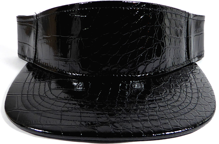 Flatbill Blank Snapback Visors Wholesale - Alligatorskin - Black 16193715f37