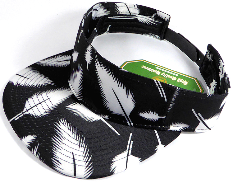 Flatbill Blank Snapback Visors Wholesale - Feather - Black 60a198f3b28
