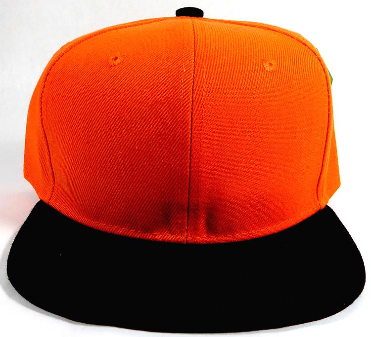 2ed6f30dfd3 Wholesale Blank Snapback Hats Caps - Orange