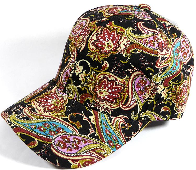 Wholesale Dad Hat - Baseball Blank Caps - Paisley - Black (LEFT 1PC) 2094d6a8c