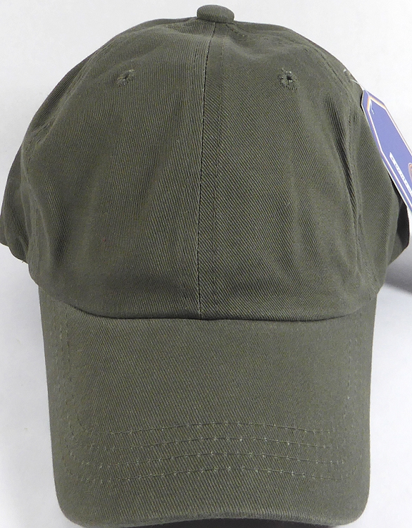 Washed 100% Cotton Plain Baseball Cap - Gold Metal Buckle - Olive ... 318eece6d9b