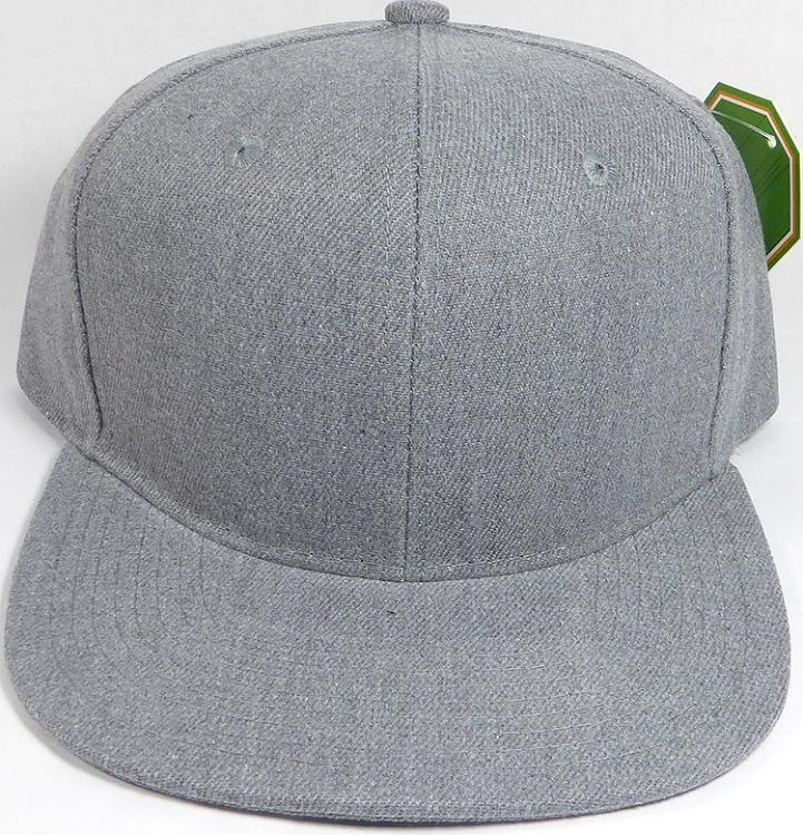 Wholesale Blank Snapback Cap - Denim Heather Grey - Solid 0b0a8e58c9b