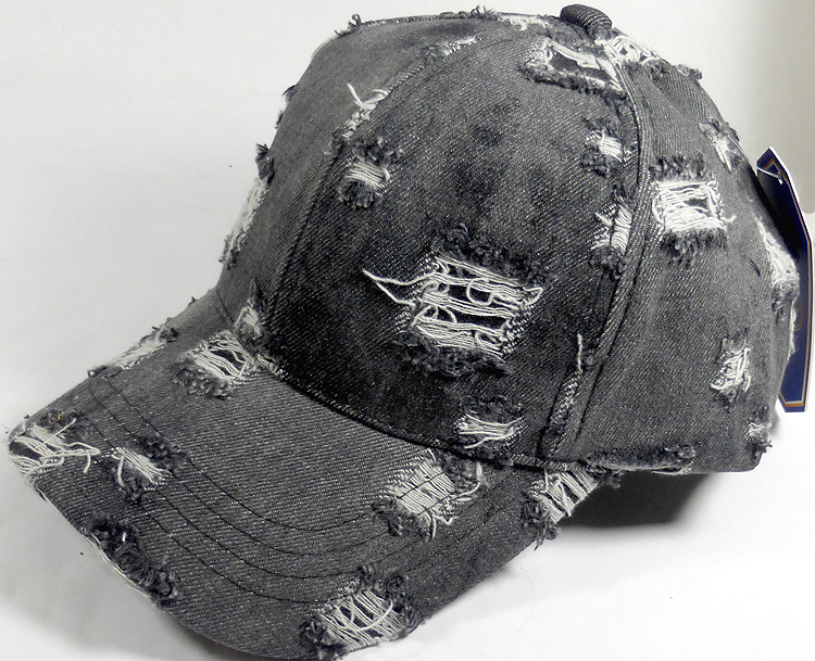 Washed 100% Cotton Distressed Baseball Cap - Gold Metal Buckle ... 00554110c2e