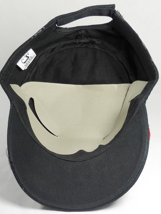 Wholesale Rhinestone Cadet Hat - Paw - Black (Red Trim)