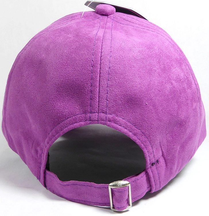 8b8964056fb7b3 Suede Dad Hats Wholesale Blank Baseball Caps - Slider Buckle - Purple