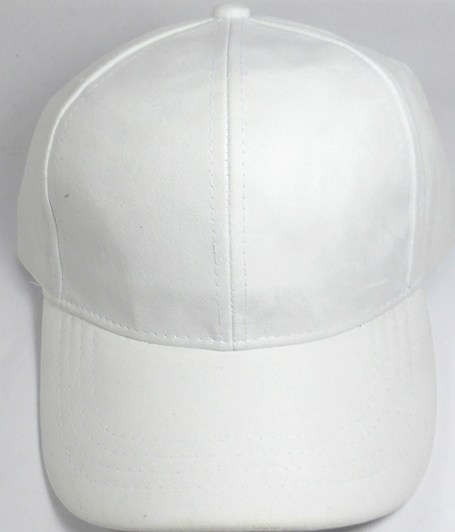 Suede Dad Hats Wholesale Blank Baseball Caps - Slider Buckle - White f9261f430256