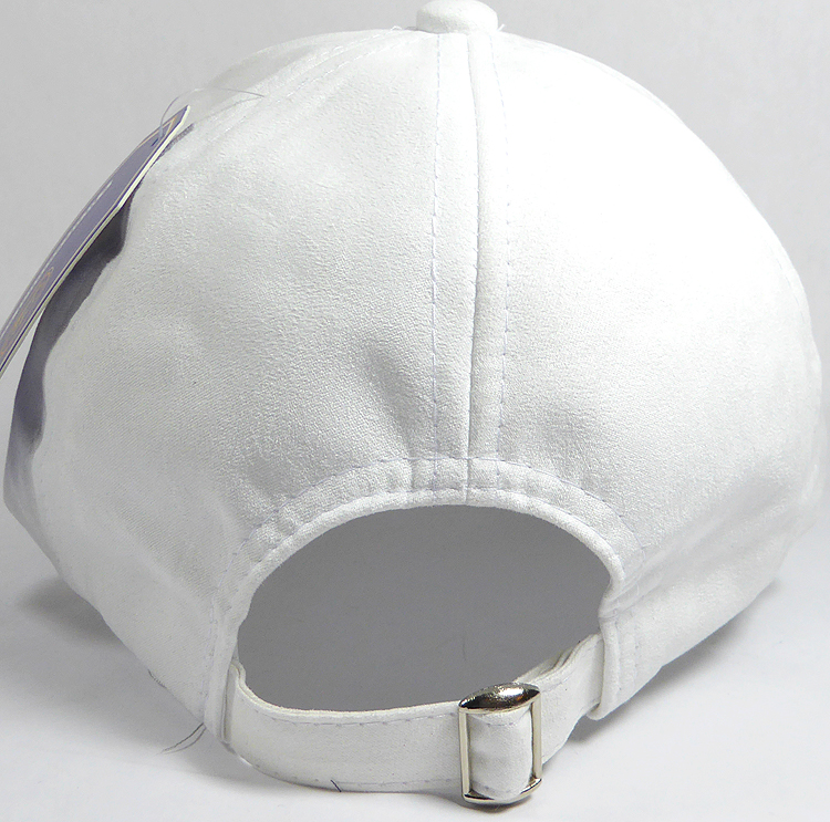 11205c5f59b Suede Dad Hats Wholesale Blank Baseball Caps - Slider Buckle - White. Suede  Baseball Cap