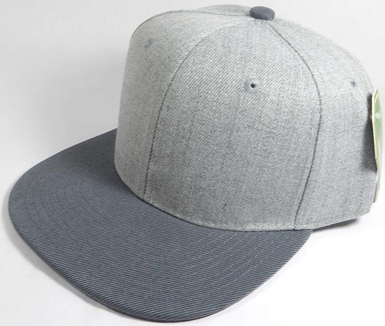 abd4ec439b4 Wholesale Blank Snapback Cap - Denim Light Grey Indigo - Dark Gray Brim.  Denim Style Snapback