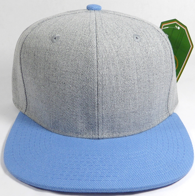 fb0d17ee6a3021 Wholesale Blank Snapback Cap - Denim Light Grey Indigo - Sky Blue Brim.  Denim Style Snapback