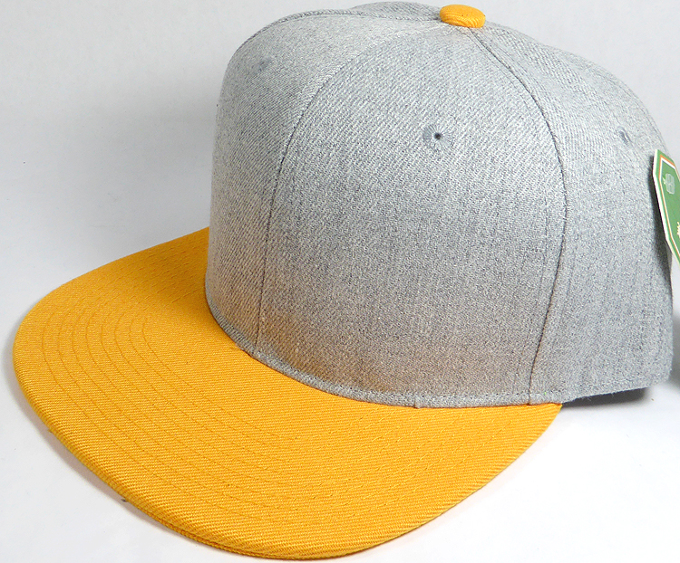 0382b105f4e wholesale light denim indigo color brim blank snapback gold yellow 02.jpg