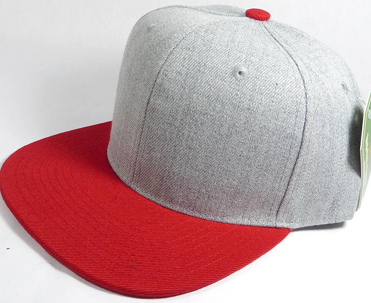 12cd1a23f7f69 Wholesale Blank Snapback Cap - Denim Light Grey Indigo - Red Brim