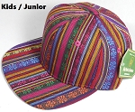 KIDS Jr. Plain Snap back Hats Wholesale - Aztec MultiColor Stripes - Solid