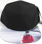 STRAPBACK 5-Panel Blank Camp Hats Caps Wholesale - East Asian Woman