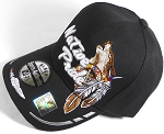 Wholesale Native Pride Baseball Cap - Howling Wolf - Black