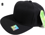 Fitted Size Caps - Wholesale Plain Hat - 8 - Black