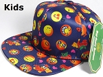 KIDS Jr. Wholesale Blank Snapback Emoji Caps - Solid - Navy