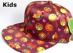 KIDS Jr. Wholesale Blank Snapback Emoji Caps - Solid - Burgundy