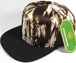 Wholesale Blank Art Pattern Snapbacks Hats - Wet Paint | Black Brim - Brown Tone