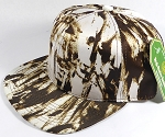 Wholesale Blank Art Pattern Snapback Caps - Solid Wet Paint - Brown